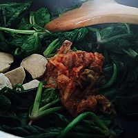橄露Gallo经典特级初榨橄榄油试用之泡菜烩菠菜的做法图解6