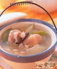 青木瓜黄豆煲猪蹄