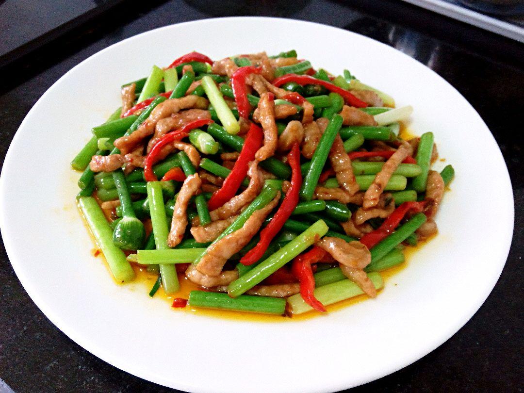 家常菜# 韭苔肉丝的做法图解10