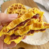 #肉食者联盟#红豆南瓜华夫饼的做法图解9