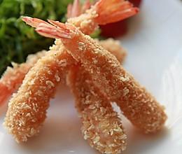 面包炸虾的做法