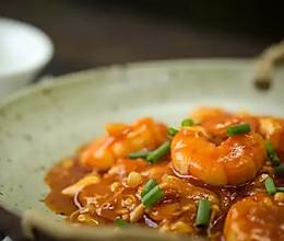 茄汁虾仁金针菇的做法