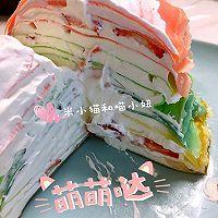 草莓彩虹千层蛋糕(追逐天空之美)的做法图解21