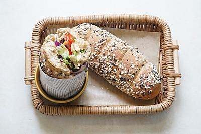 赛百味面包胚--蜂蜜燕麦面包 50%全麦 山寨版