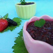 超级简单的桑葚草莓果酱#一机多能 一席饪选#