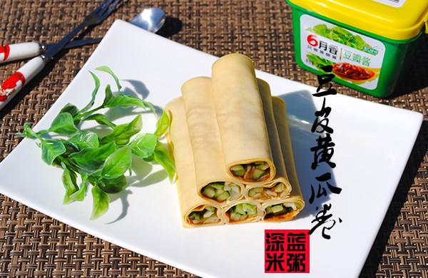 豆皮黄瓜卷——蘸酱凉菜