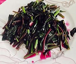 奇异的紫背天葵-素菜通用做法的做法