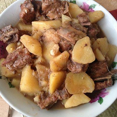 排骨炖土豆(有汤版)