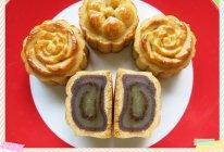 【斑纹双色莲蓉月饼】的做法