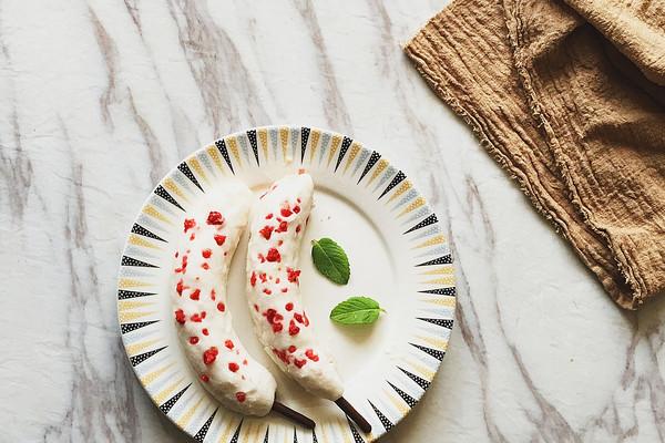 脆皮草莓香蕉雪糕#膳魔师夏日魔法甜品#的做法