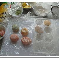 白豆沙蛋黄冰皮月饼的做法图解5