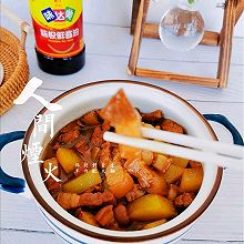 超简版红烧肉炖土豆
