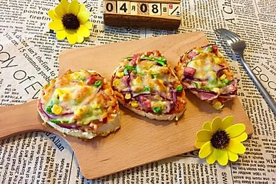 快手早餐—火腿馒头披萨
