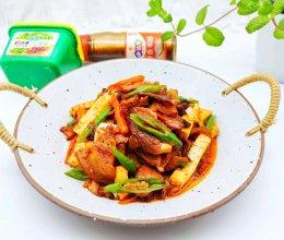 #新春美味菜肴#豆腐炒腊肉的做法