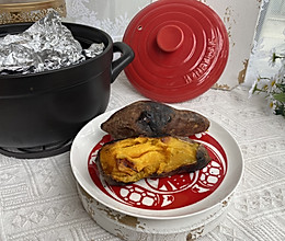 原来砂锅也能烤红薯的做法