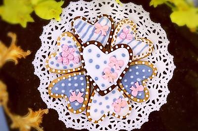 【美食魔法】少女心蝴蝶结玫瑰爱心糖霜饼干