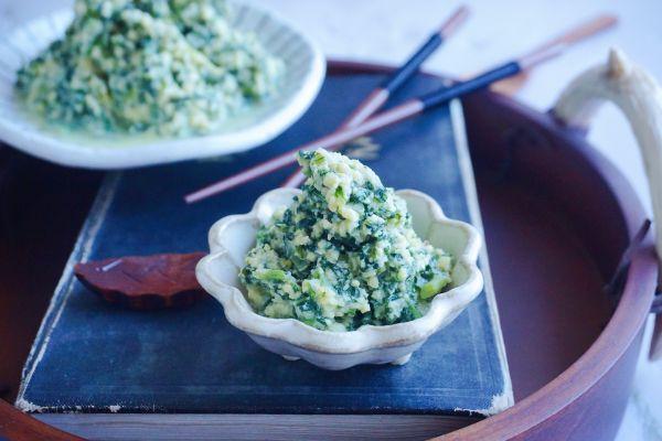 秋季保健瘦身好吃不长肉萝卜苗黄豆粉小豆腐的做法
