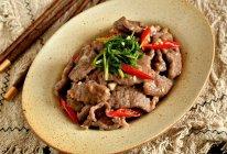 香菜滑炒牛肉的做法