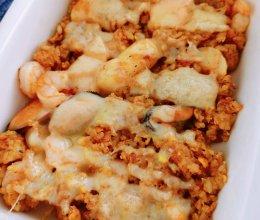 咖喱海鲜焗饭的做法