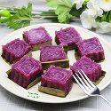 山药紫薯糕#樱花味道#