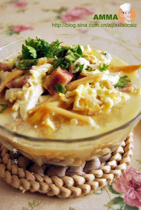 肉丸豆腐蛋汤的做法