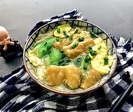 丝瓜油条蛋花汤~的做法