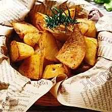 比薯条好吃的低脂烤薯角!!减肥解馋小零食