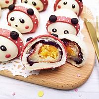 熊猫麻薯蛋黄酥,Q弹软糯,好吃到飞起~的做法图解21
