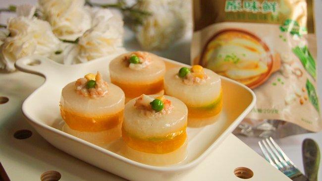 南瓜萝卜酿虾球的做法