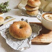 黑芝麻贝果 波兰种bagle健康低脂早餐面包可做汉堡包
