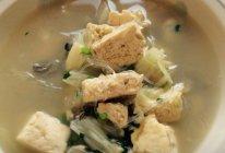 海蛎子豆腐汤的做法
