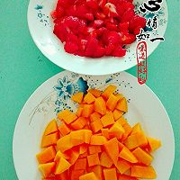 樱花水果慕斯蛋糕#浪漫樱花季#的做法图解4