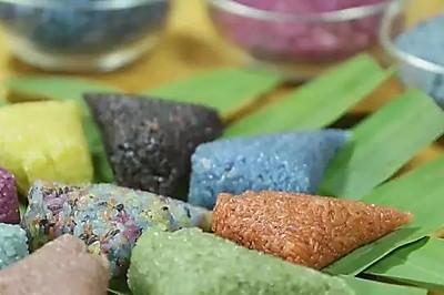 【微体兔菜谱】端午节也要多彩起来!花米饭粽子!