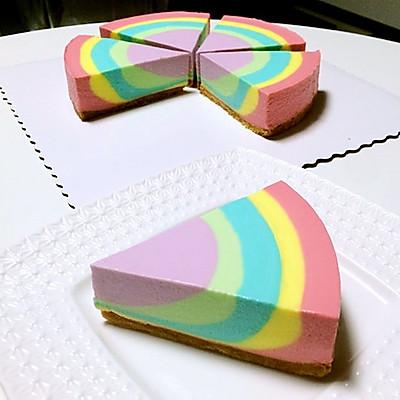 彩虹慕斯蛋糕