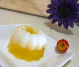 椰奶橙汁冻的做法