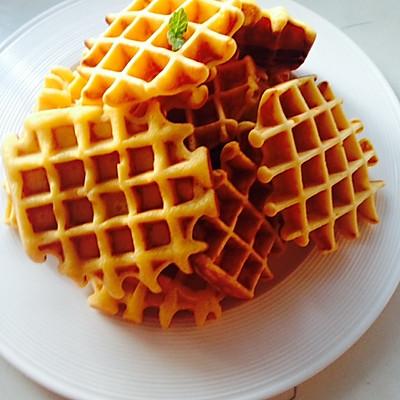 华夫饼(无酵母,无泡打粉)