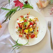 减肥必备—蔬菜鸡胸肉沙拉