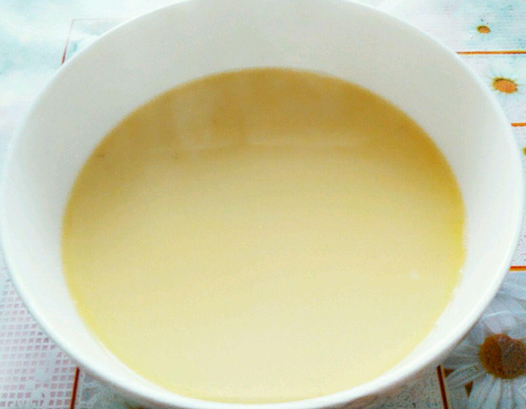 准备一碗高汤,我用的是筒子骨熬的汤,炖了4个小时