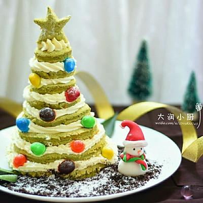 圣诞树场景蛋糕