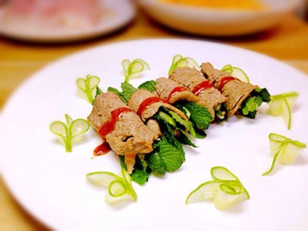 薄荷鲜虾牛肉卷(牛里脊版)