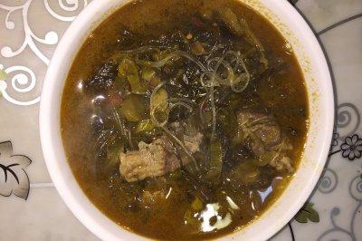 酸菜粉丝肉片汤