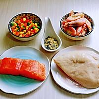 山葵木鱼花三文鱼沙拉#花10分钟,做一道菜!#的做法图解1