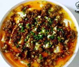 豆腐肉末蒸鸡蛋的做法