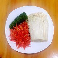 凉拌金针菇#健康减肥菜品#的做法图解1
