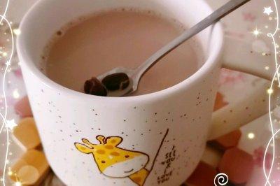 香甜的红豆奶茶