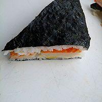 快手寿司三明治#极速早餐#的做法图解5