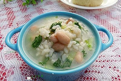 花生青菜粥——冬季暖身
