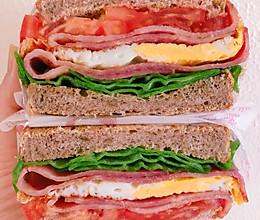 #换着花样吃早餐#全麦三明治(附上超详细的包三明治大法)的做法