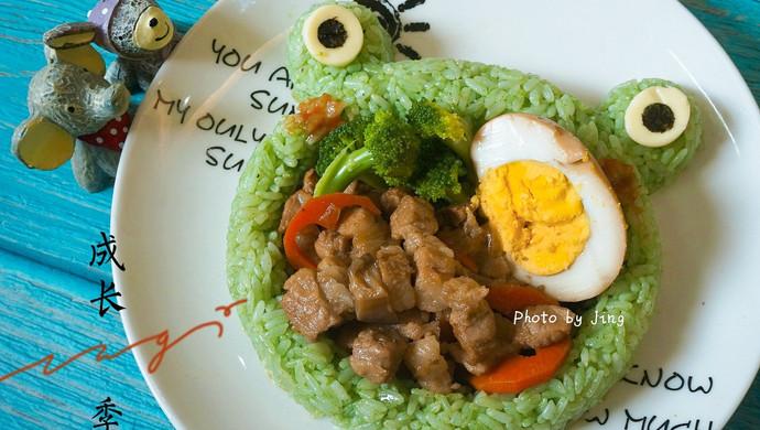 #安佳儿童创意料理# 青蛙儿童餐,孩子把碗吃下去【图文视频】