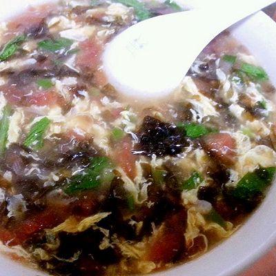 西红柿 虾皮 紫菜汤